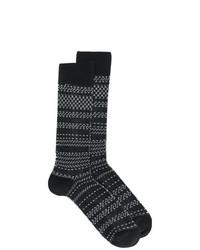 Calcetines de rayas horizontales negros de Necessary Anywhere