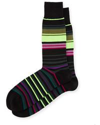 Calcetines de rayas horizontales negros de Paul Smith