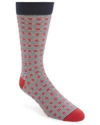 Calcetines de rayas horizontales rojos