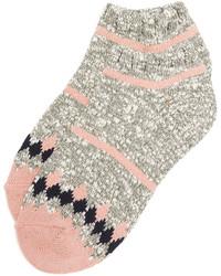Calcetines de rayas horizontales rosados de Madewell