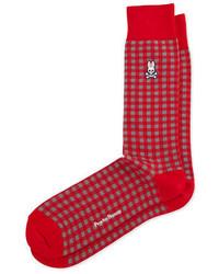 Calcetines de tartán rojos