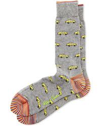 Calcetines estampados grises