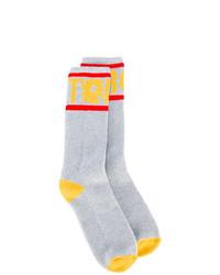 Calcetines estampados grises de Stella McCartney