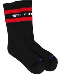 Calcetines estampados negros de Vetements