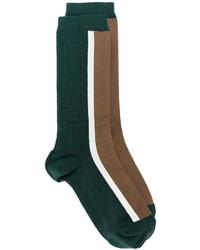 Calcetines estampados verde oscuro de Marni