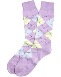 Calcetines estampados violeta claro