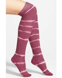 Calcetines hasta la rodilla morado