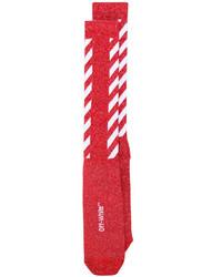 Calcetines rojos de Off-White