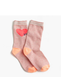 Calcetines rosados de J.Crew