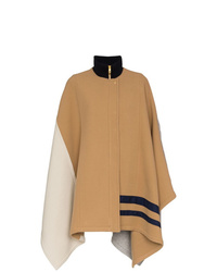 Chloé Colour Block Cape Coat