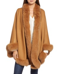 Belle Fare Genuine Fox Cashmere Cape