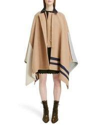 Chloé Iconic Stripe Wool Blend Cape