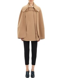 Chloé Melton Cape Coat Colorless