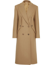 Michael Kors Michl Kors Collection Double Breasted Wool Coat Camel