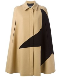 MSGM Star Print Cape Coat