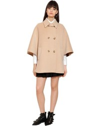 RED Valentino Wool Mohair Cloth Cape Coat