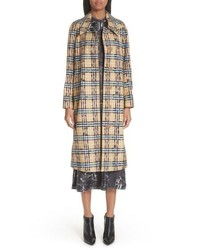 Burberry Calderbrook Scribble Check Car Coat