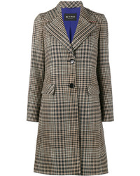 Etro Wide Collar Check Coat