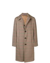 Gabriele Pasini Checked Single Breasted Overcoat