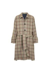 Wooyoungmi Classic Check Long Coat