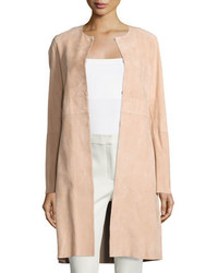 Theory Alvington Brenna Suede Car Coat Tulle
