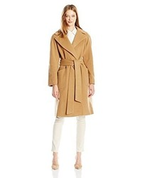 Anne Klein Wool Big Belt Wrap Coat