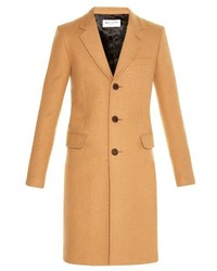 Saint Laurent Chesterfield Camel Hair Overcoat