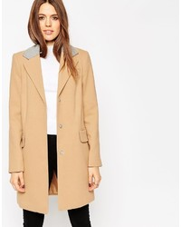 Asos Collection Coat With Contrast Collar