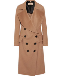 Burberry Crewdale Camel Hair And Wool Blend Coat