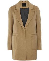 Dorothy Perkins Camel Brushed Boyfriend Coat