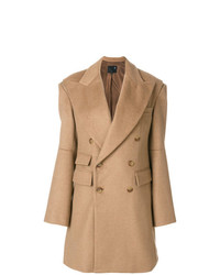 R13 Double Breasted Wide Lapel Coat