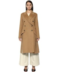 Sportmax Double Breasted Wool Angora Coat