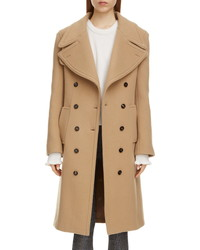 Chloé Double Breasted Wool Blend Coat