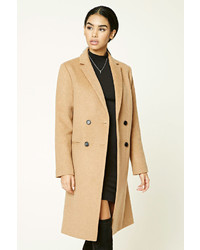Forever 21 Double Breasted Wool Blend Coat