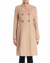 Eliza J Double Breasted Wool Blend Coat