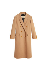 Burberry Double Camel Hair Tailored Coat