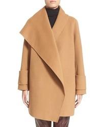 Vince Drape Front Wool Coat