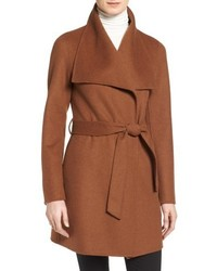 Tahari Ella Belted Double Face Wool Blend Wrap Coat