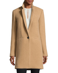 Rag & Bone Emmet Single Button Wool Blend Coat Camel