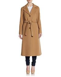 Cinzia Rocca Fleece Wool Blend Long Coat