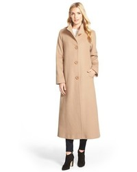 Fleurette Cashmere Long Stand Collar Coat