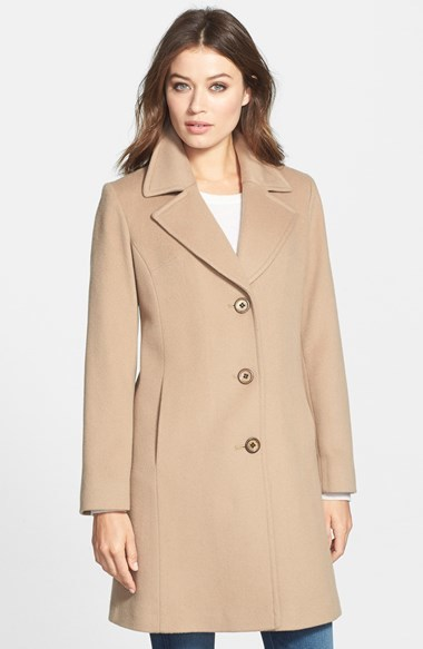 Fleurette Notch Collar Loro Piana Wool Walking Coat
