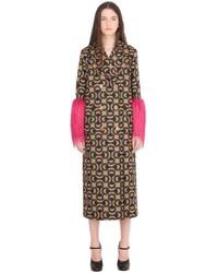 Gucci Horse Bit Wool Jacquard Coat