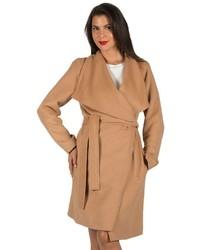 Harve Benard Shawl Collar Wool Blend Coat