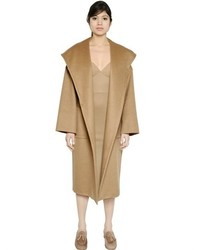 Max Mara Hooded Belted Camel Coat