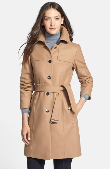 Wool Camel Trench Coat | Down Coat