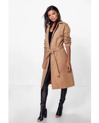 Boohoo Imogen Belted Wool Look Coat