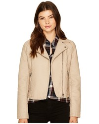 BB Dakota Jack By Willis Heavy Rippled Pu Moto Jacket Coat