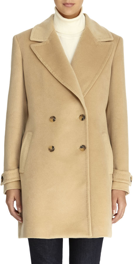 Jones New York Double Breasted Camel Car Coat | Where to buy & how