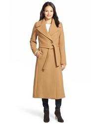 Kristen Blake Long Wool Blend Wrap Coat